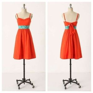 Anthropologie Edme & Esyllte Size 4 Orange Dress